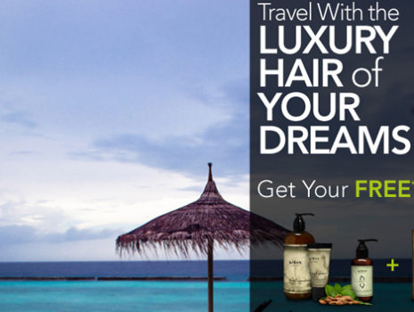 Wen Hair Care 'Luxury Travel' kit campaign