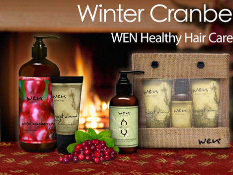 Wen Hair Care 'Winter Cranberry Mint' seasonal campaign