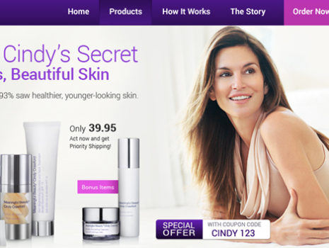 Meaningful Beauty home page re-design test