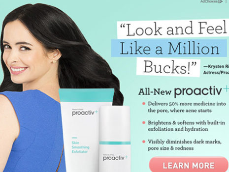 Proactiv Krysten Ritter Yahoo log-in screens